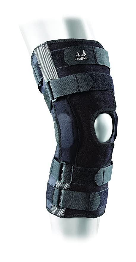 bfb2dc55a1 BIOSKIN Gladiator Knee Brace - Adjustable Hinged Knee Brace for ACL, MCL,  LCL,