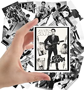 """Large Stickers (24pcs 2.5""""x3.5"""") Young ELVIS Rare Photos Rock Music Posters Photos Vintage Magazine covers"""