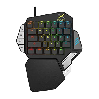 Teclado de juego para una sola mano, JTD 33-Key Ergonomic Wired Keyboard,