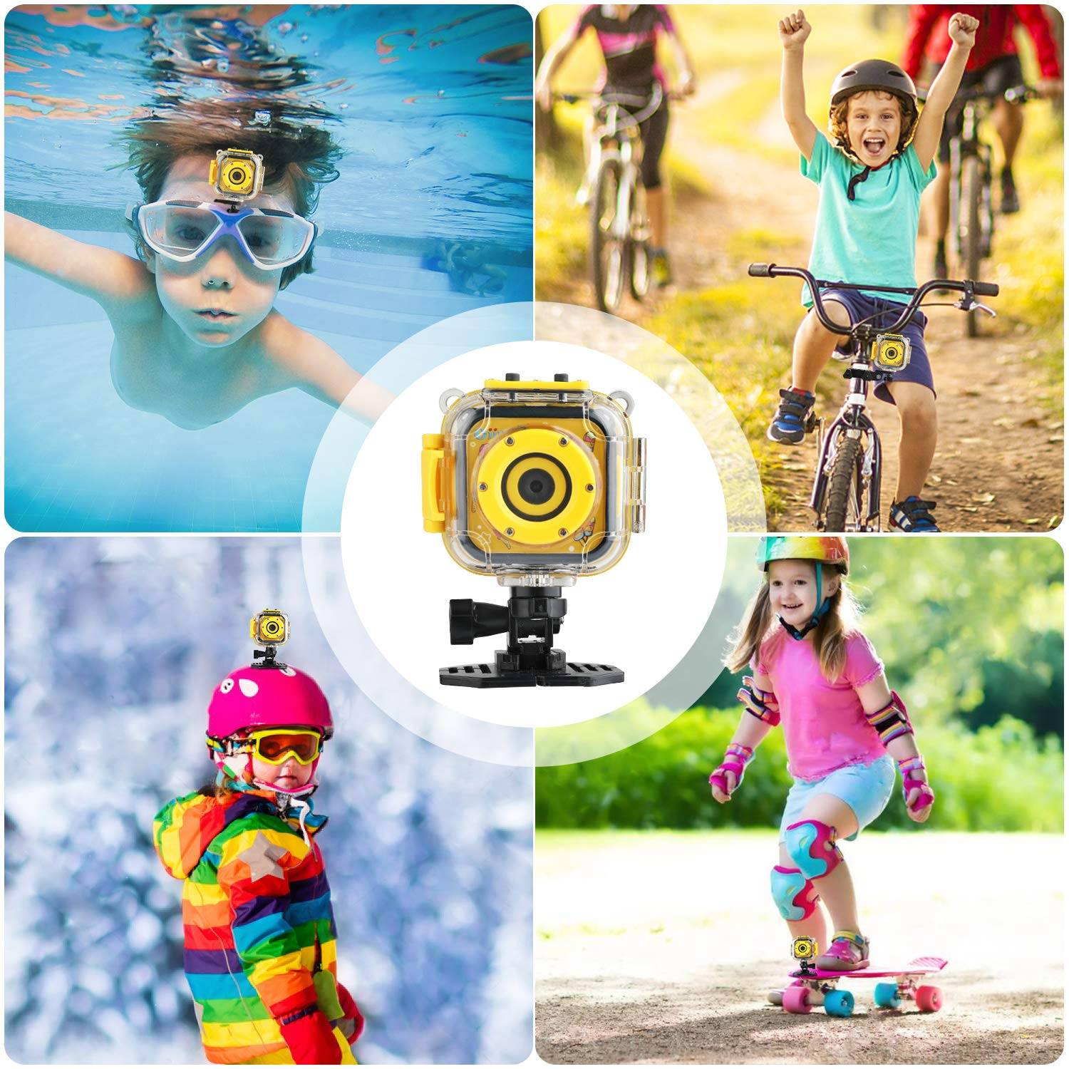 Kids Camera, Oiiwak Kids Video Camera Waterproof Toys for 3-10 Year Old Girls, 5.0 MP HD Digital Mini Camcorder for Children with 32GB Memory Card by Oiiwak (Image #7)