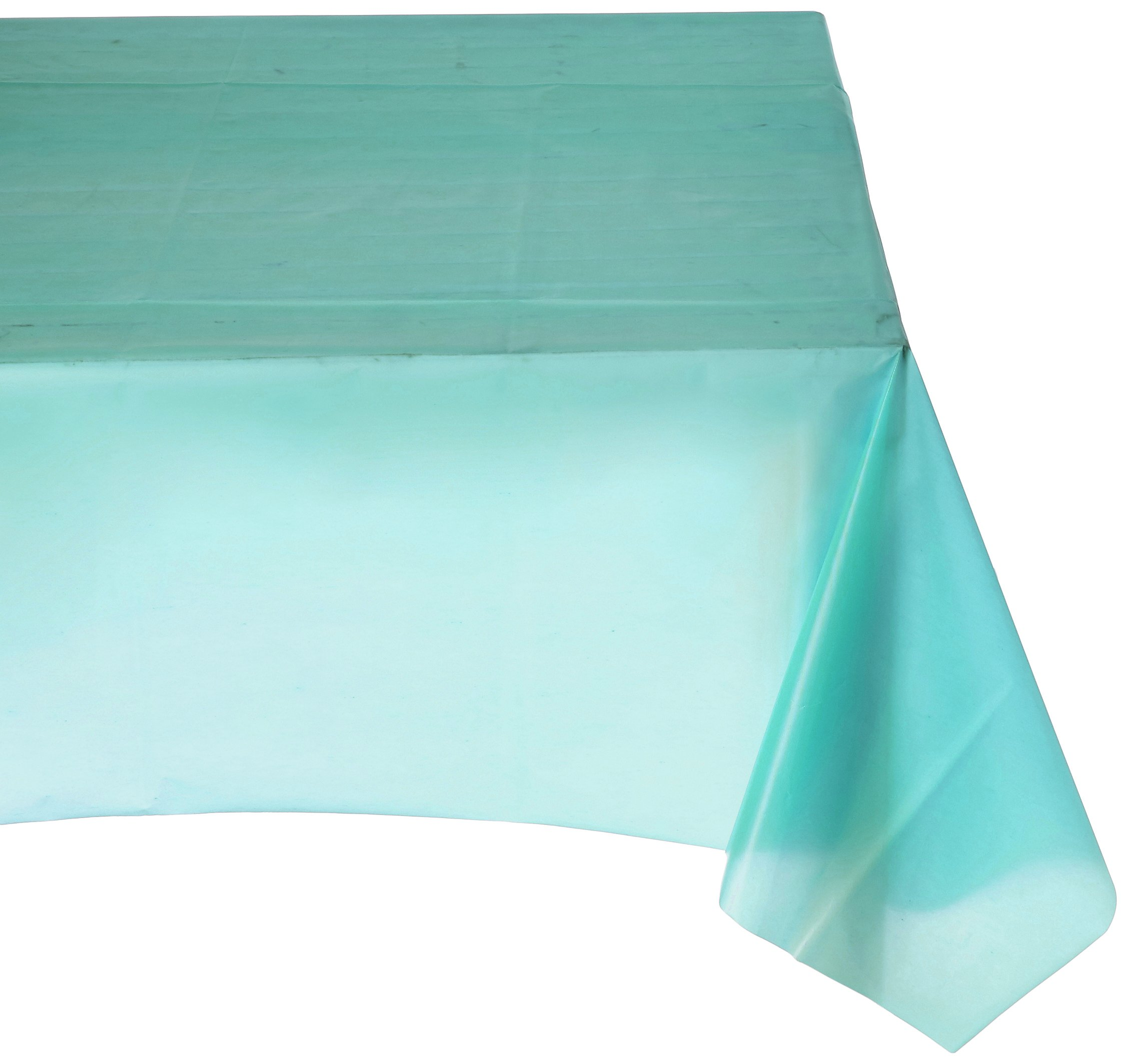 "Amscan Reusable Rectangular Plastic Lace Table Skirt Tableware 108"" Robin Egg Blue by Amscan"