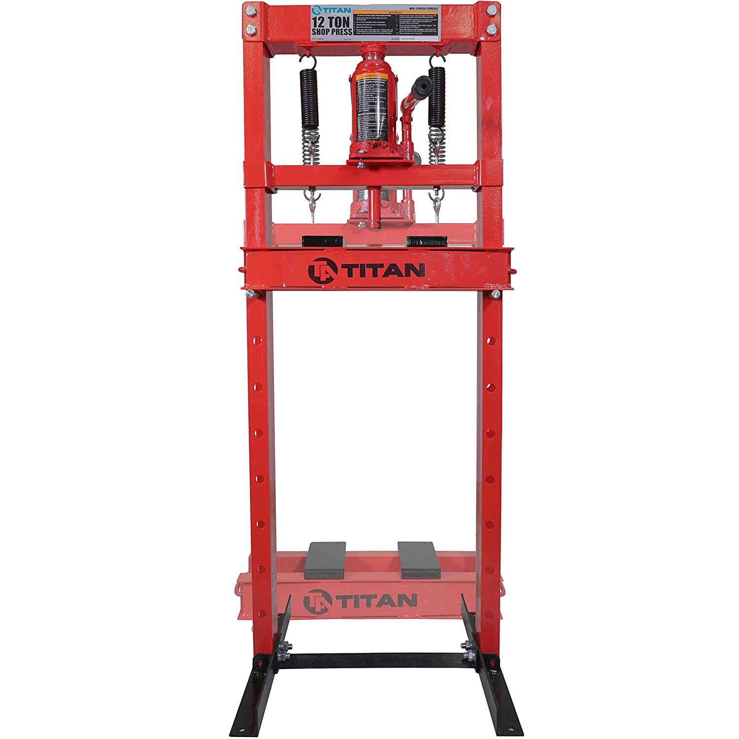 Latest Collection Of Hydraulic Jack Stand 12 Ton H-frame Shop Press Heavy Duty Springs Loaded Stands Attractive And Durable Business & Industrial