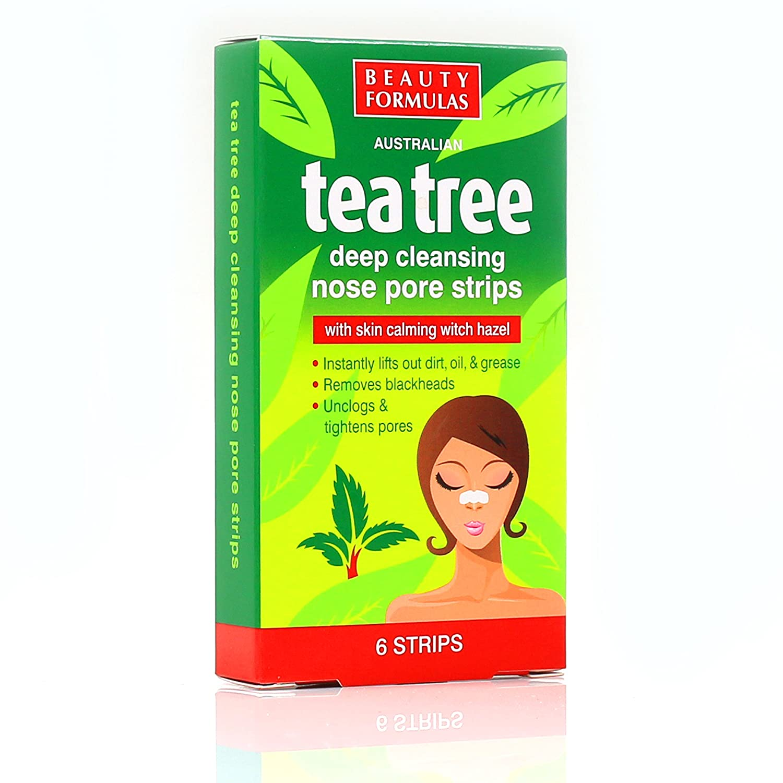 72x Australian Tea Tree & Witch Hazel Nose Strips | Removes Blackheads, Unclogs & Tightens Pores White Hinge