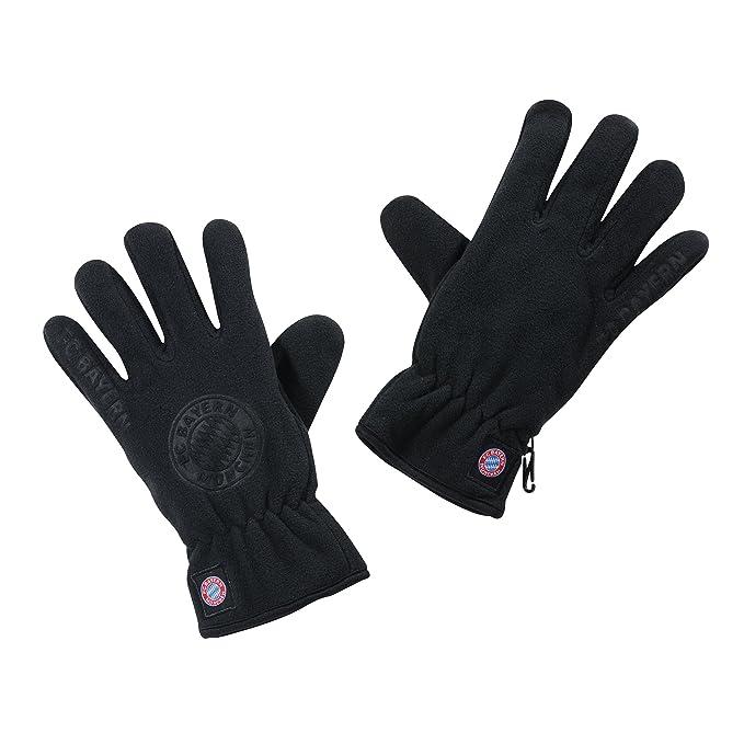 Strickhandschuh Touch FC Bayern M/ünchen schwarz gants guantes gloves gratis Sticker Handschuhe FCB