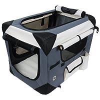 WOLTU #487 Hundebox Hundetransportbox Auto Transportbox Reisebox Katzenbox Autobox Box mit Hundedecke Braun Grau Schwarz S-XXXXL
