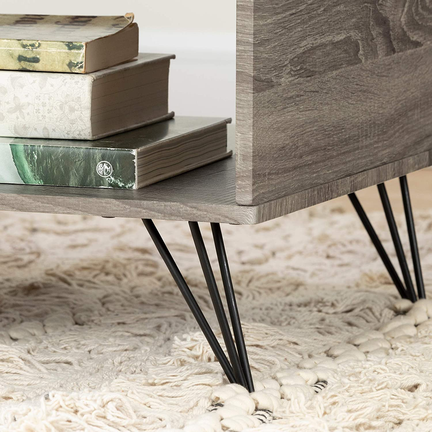 South Shore Evane, Oak Camel Coffee Table with Storage