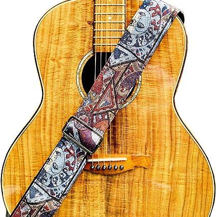 WINGO Correa para guitarra de 6,35 cm de ancho con extremos de ...