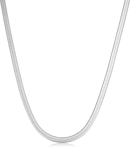 Sterling Silver Herring Bone Necklace 18 inch Gorgeous