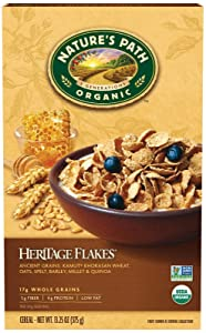 Nature's Path Organic - Cereal Heritage Flakes Whole Grains High Fiber - 13.25 oz.