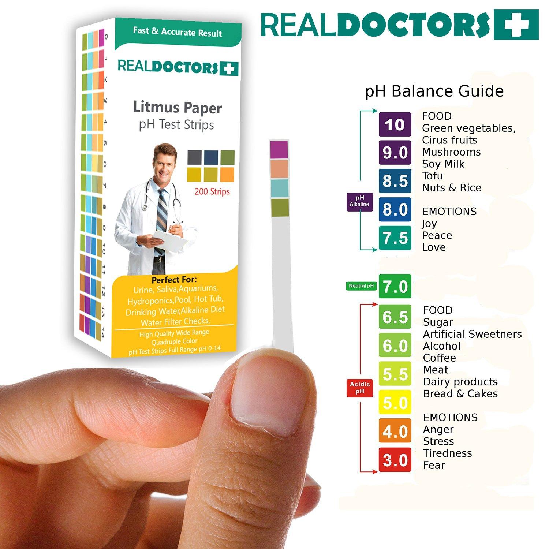 Litmus Paper 200 Tiras de pH El mejor papel indicador Tiras de prueba de pH y tiras de prueba de balance de pH - La mayoría de los resultados auténticos y ...