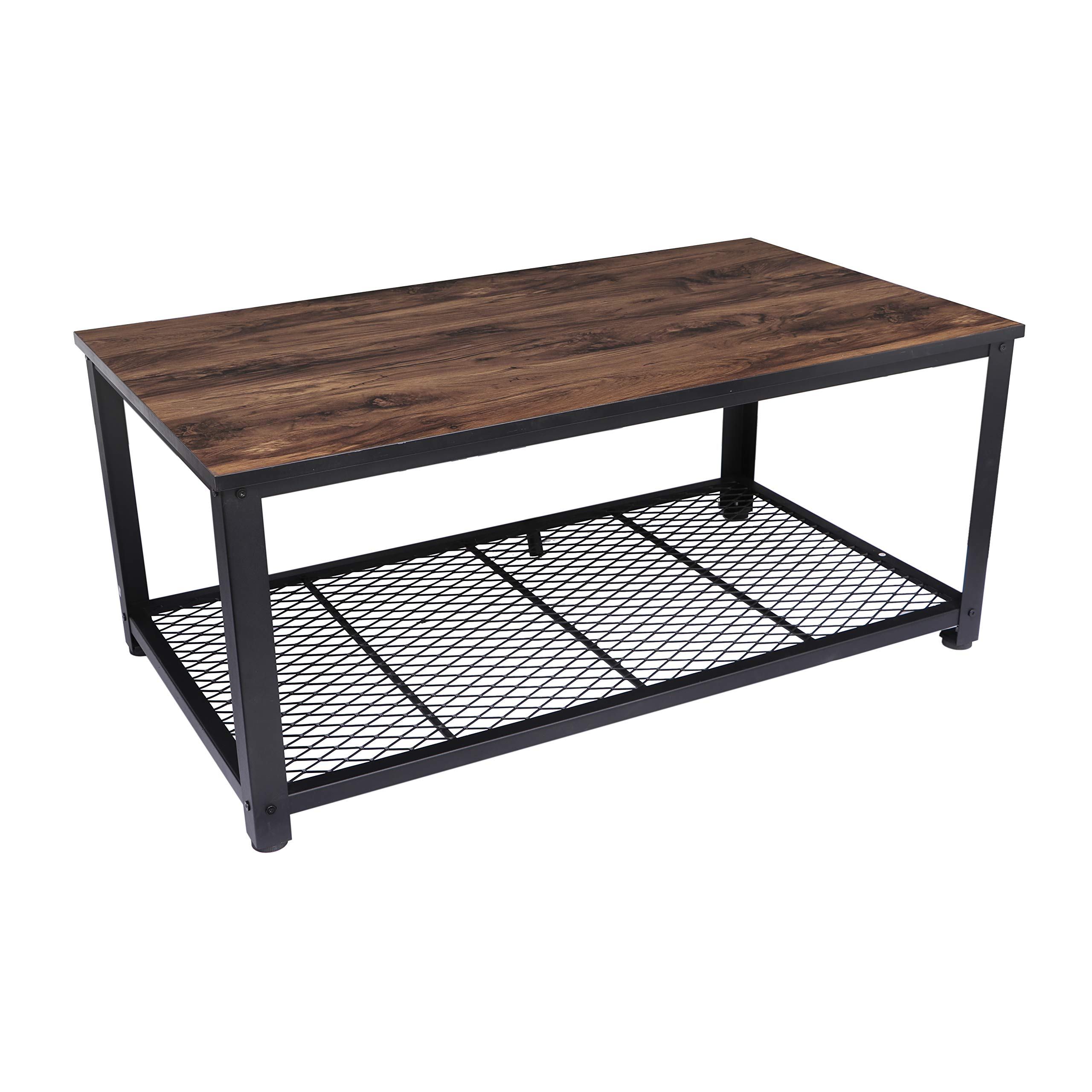 Homemaxs Coffee Table with Large Storage Space, Modern Industrial Style Coffee Table for Living Room, Office, Rustic Home Decor -Easy Assembly, 41.34x 23.62 x 18.5in by Homemaxs