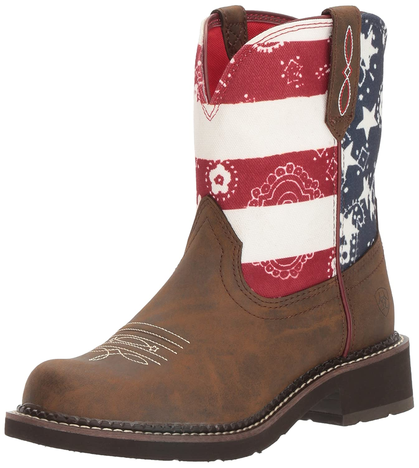 Ariat Women Women's Fatbaby Collection Western Cowboy Boot B01L98UIJ4 7.5 B(M) US|Toasted Brown/ Old Glory