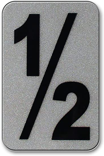 3-Inch Number 1 Reflective Self Adhesive Mylar Numbers QTY 6