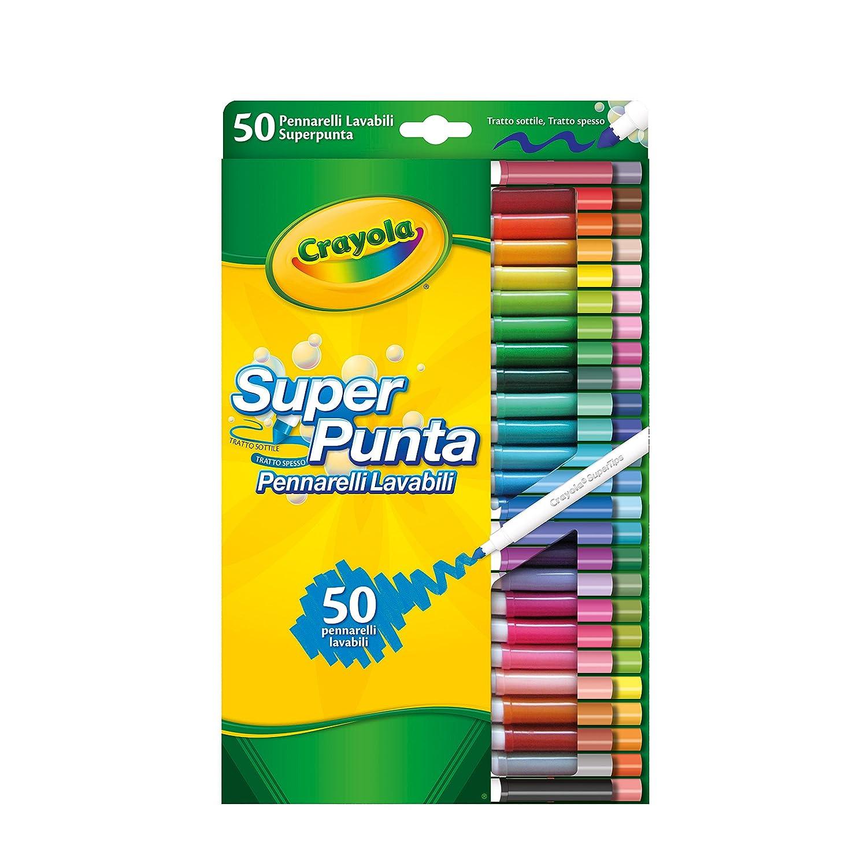 Crayola - Juego de rotuladores lavables (50 unidades) [1Bnqw0107518 ...