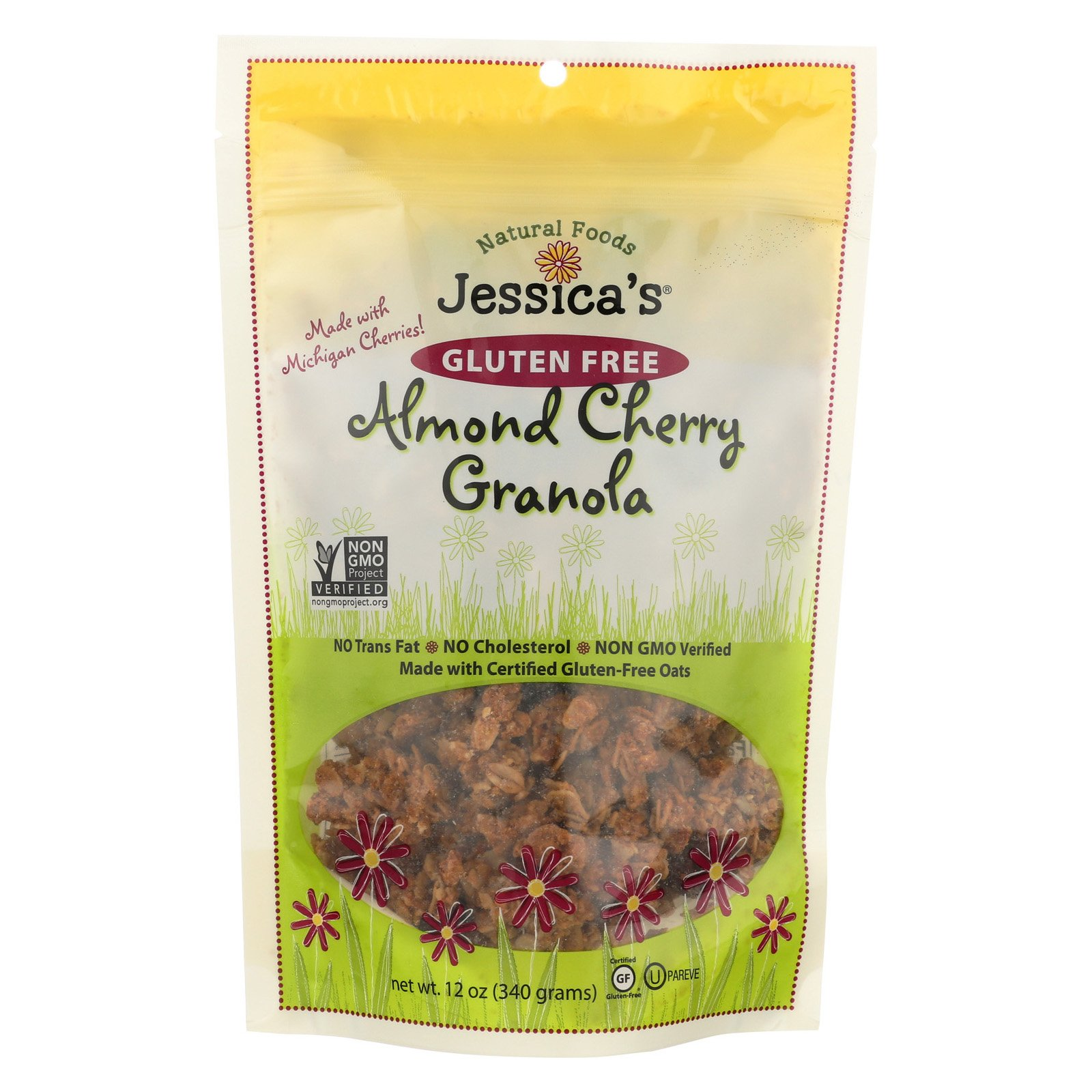 Jessica's Natural Foods Granola - Almond Cherry - Case of 12 - 12 oz. by Jessica's Natural Foods