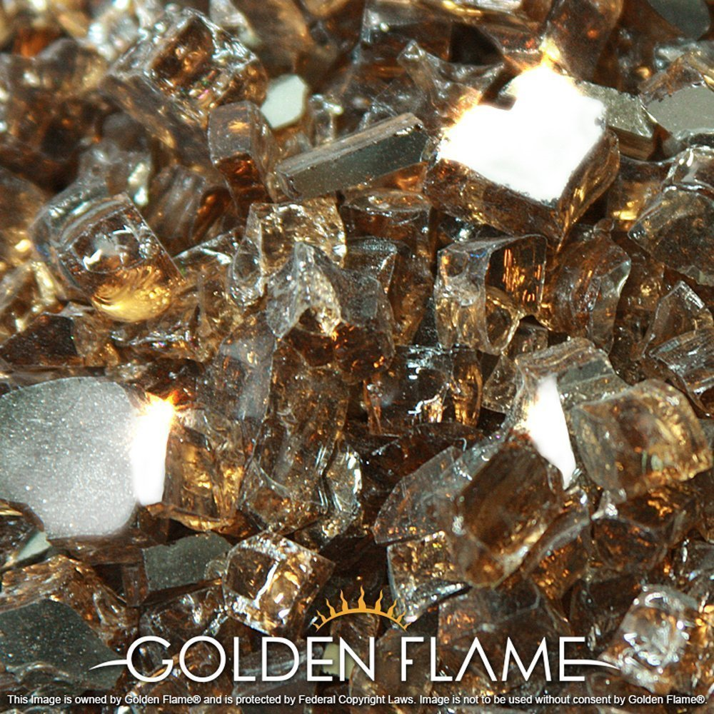 Golden Flame 20-Pound Fire Glass 1/2-Inch Rich-Copper Reflective by Golden Flame