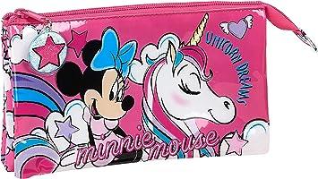 safta 812012744 Estuche Escolar de Minnie Mouse, Rosa, Único: Amazon.es: Equipaje