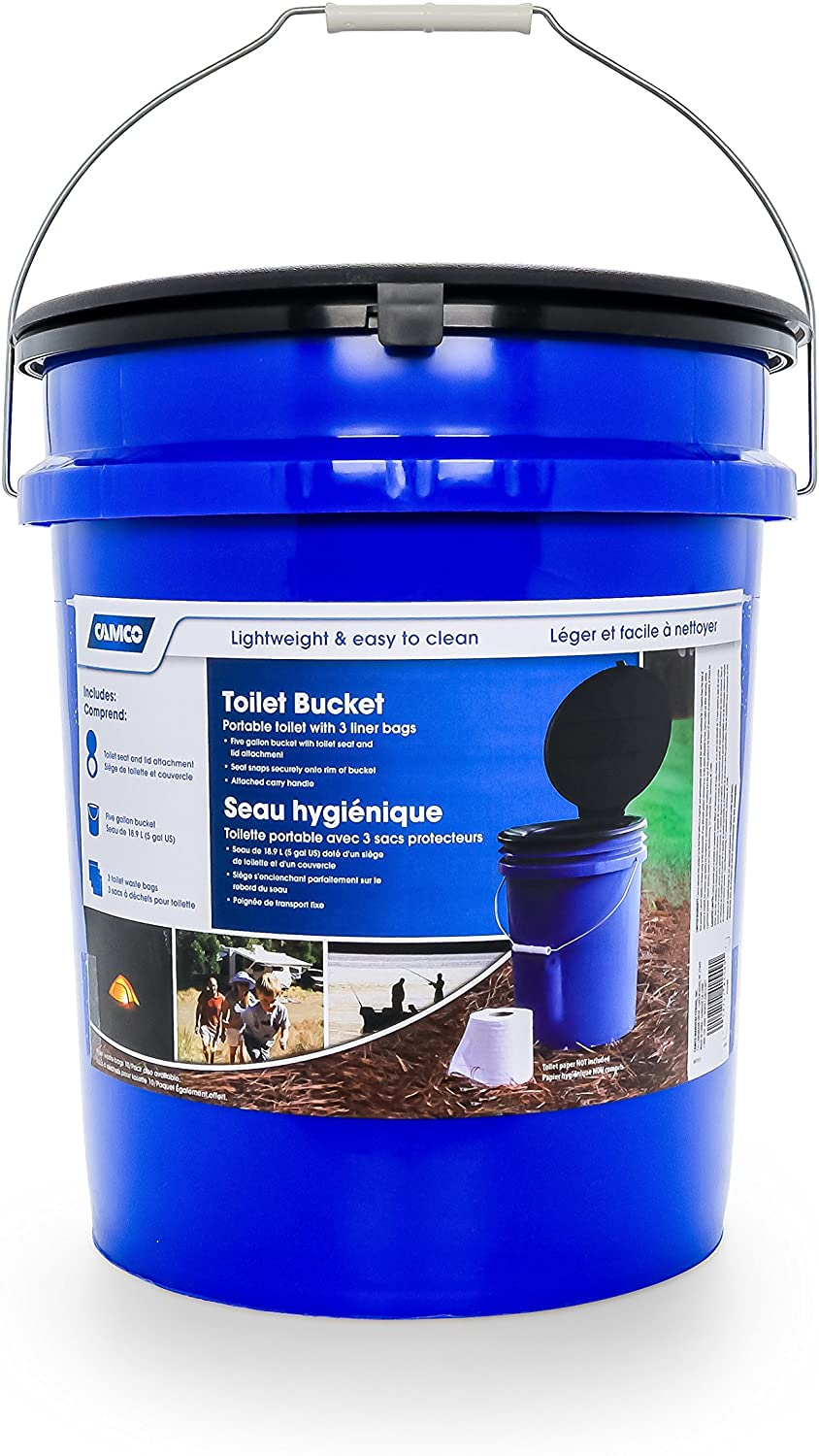 Camco Portable Toilet Bucket with Seat