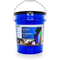 $20 » Camco Portable Toilet Bucket with Seat and Lid Attachment - Holds 5 Gallons, Lightweight and…