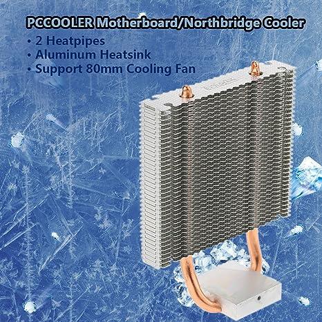 KKmoon HB-802 2 Heatpipes Radiador Disipador de Calor de Aluminio Tarjeta Madre / Northbridge Cooler Refrigeración Southbridge Ventilador de Refrigeración ...