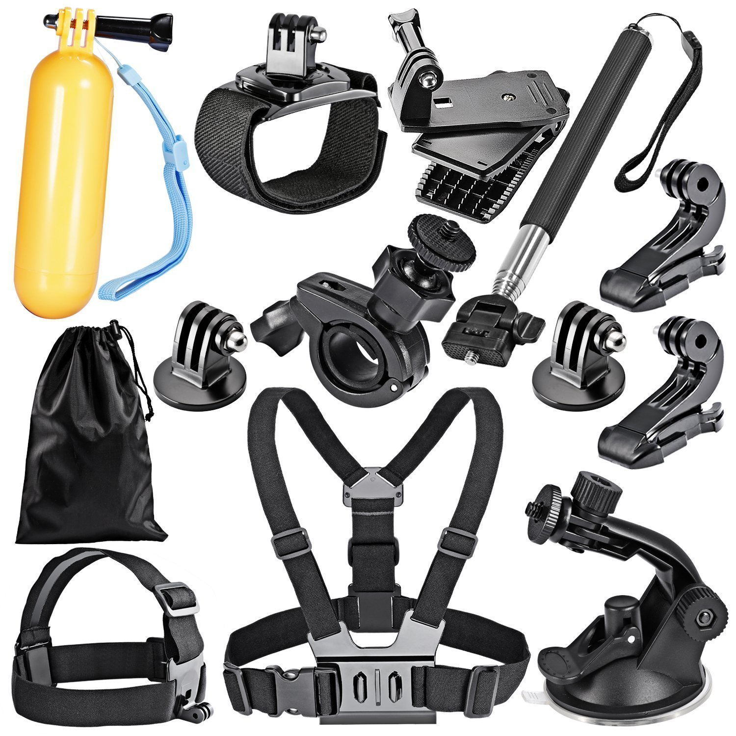Robustrion Go Pro 12 in 1 Mounts and Straps Accessory Kit