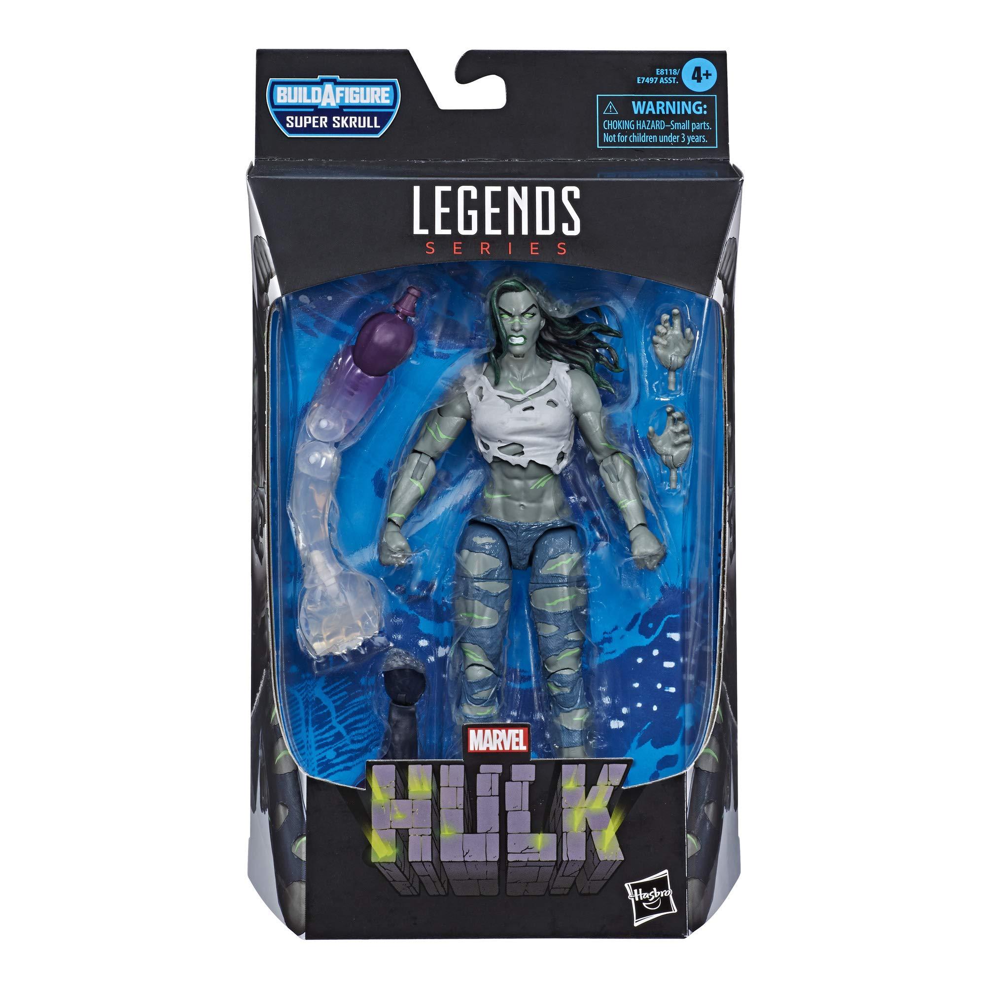 "Hasbro Marvel Legends Series 6"" Collectible Action Figure Hulk Toy, Premium Design & 2 Accessories, 2 Build-A-Figure Parts"