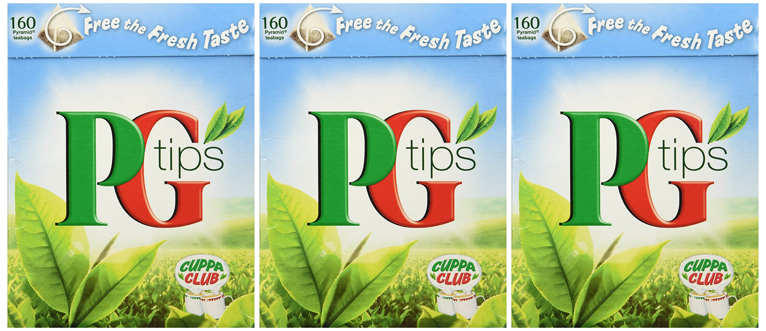 PG Tips 160 Bags 3 Pack (480 Bags Total), Blue Box