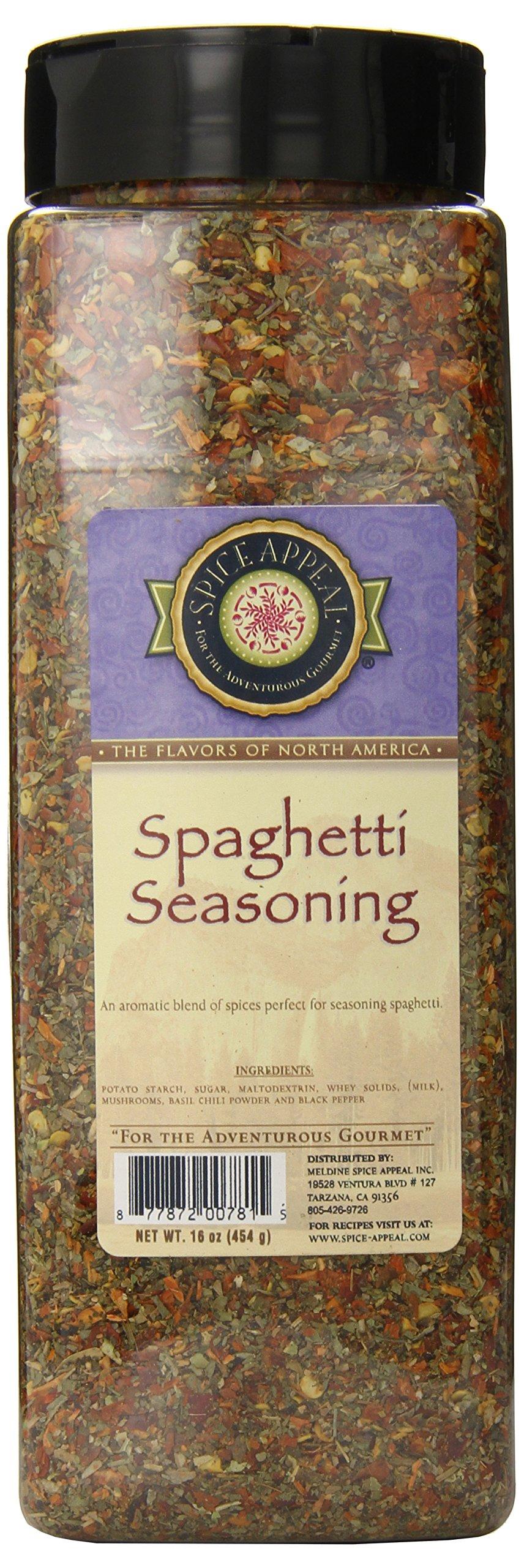 Spice Appeal Spaghetti Seasoning, 16 Ounce