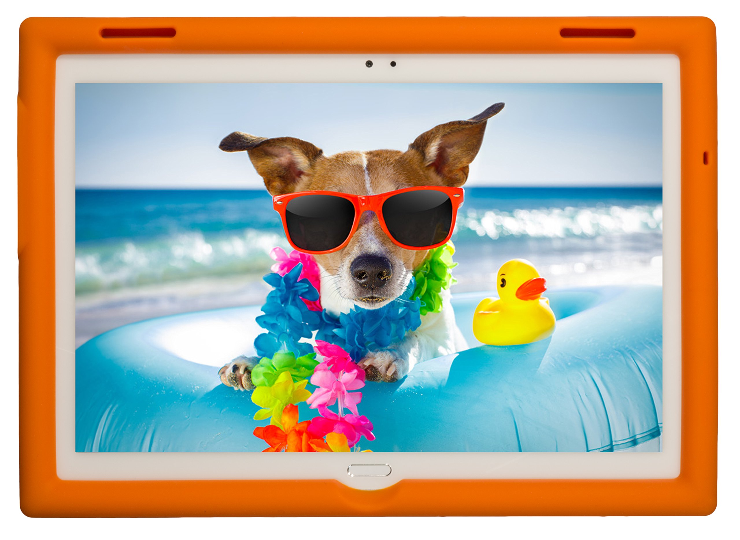 BobjGear Bobj Rugged Tablet Case for Lenovo Tab 4 10 Plus (TB-X704V, TB-X704F, TB-X704L, TB-X704Y, MotoTab TB-X704A) - BobjBounces Kid Friendly (Outrageous Orange)