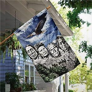 "Garden Flag Original Founding Fathers Native American Flag, Rustic House Peace Flag Yard Decor House Decor Flag Seasonal Banners for Patio Lawn Outdoor 28x40"""