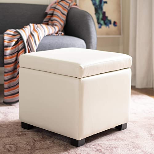 Safavieh Hudson Collection Ryder Leather Square Flip Top Ottoman