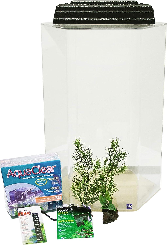 SeaClear 20Gal hexagonale en Acrylique pour Aquarium Junior Executive kit