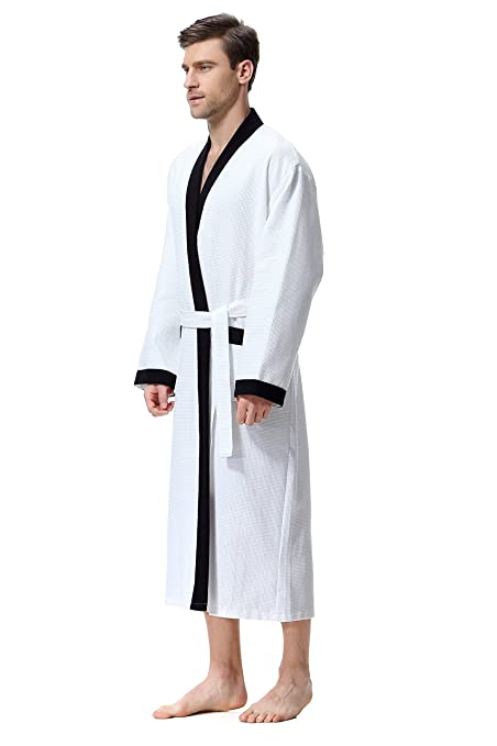COSMOZ Gofre Bata Albornoz de Estilo Kimono elaborada en Waffle piqué de algodón: Amazon.es: Ropa y accesorios