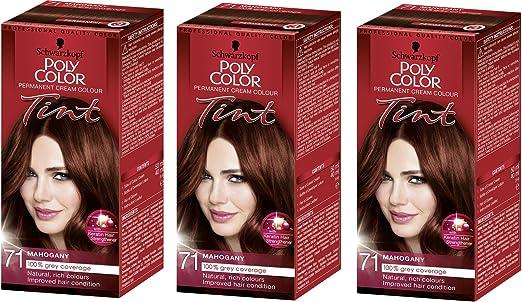 Schwarzkopf Poly Color Tinte Permanente, Color Caoba – Pack ...
