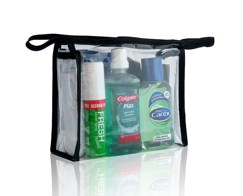 ... ideal para las vacaciones, consta de un desodorante, un jabón de ducha, un champú, un enjuague bucal y un desinfectante: Amazon.es: Belleza