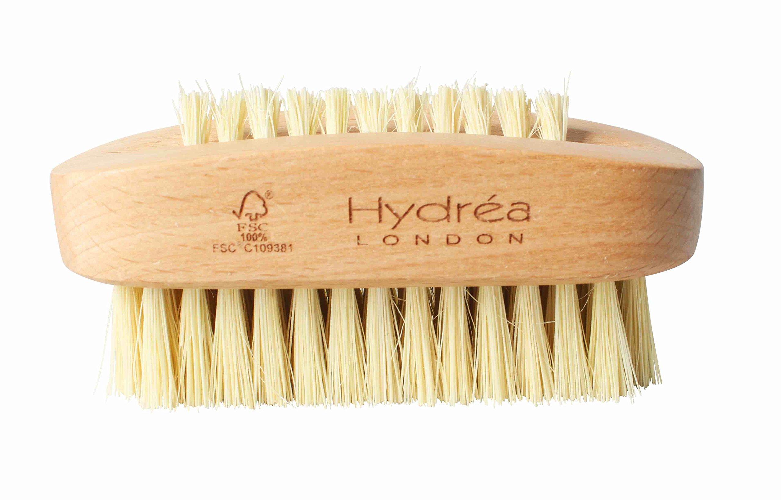 Hydrea London Dual-Sided Nail Brush w/Cactus Bristles & Beechwood Hard Strength