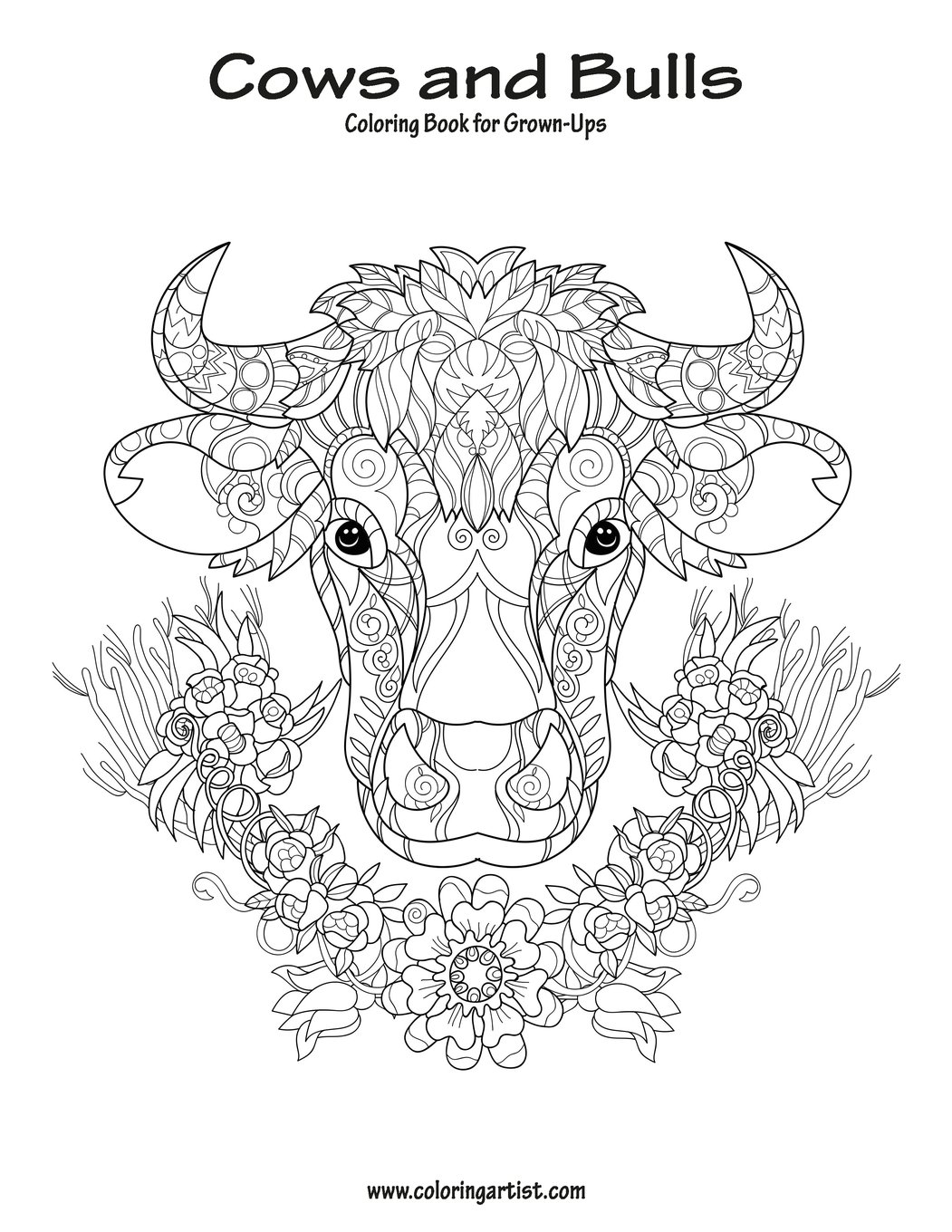 Amazon Com Cows And Bulls Coloring Book For Grown Ups 1 Volume 1 9781721019779 Snels Nick Books