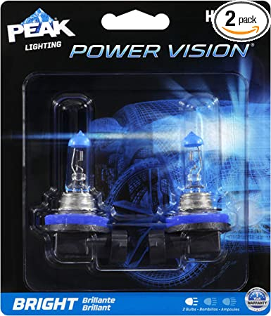 PEAK Power Vision Silver Automotive Performance Headlamp 9006 HB4 2 Pack