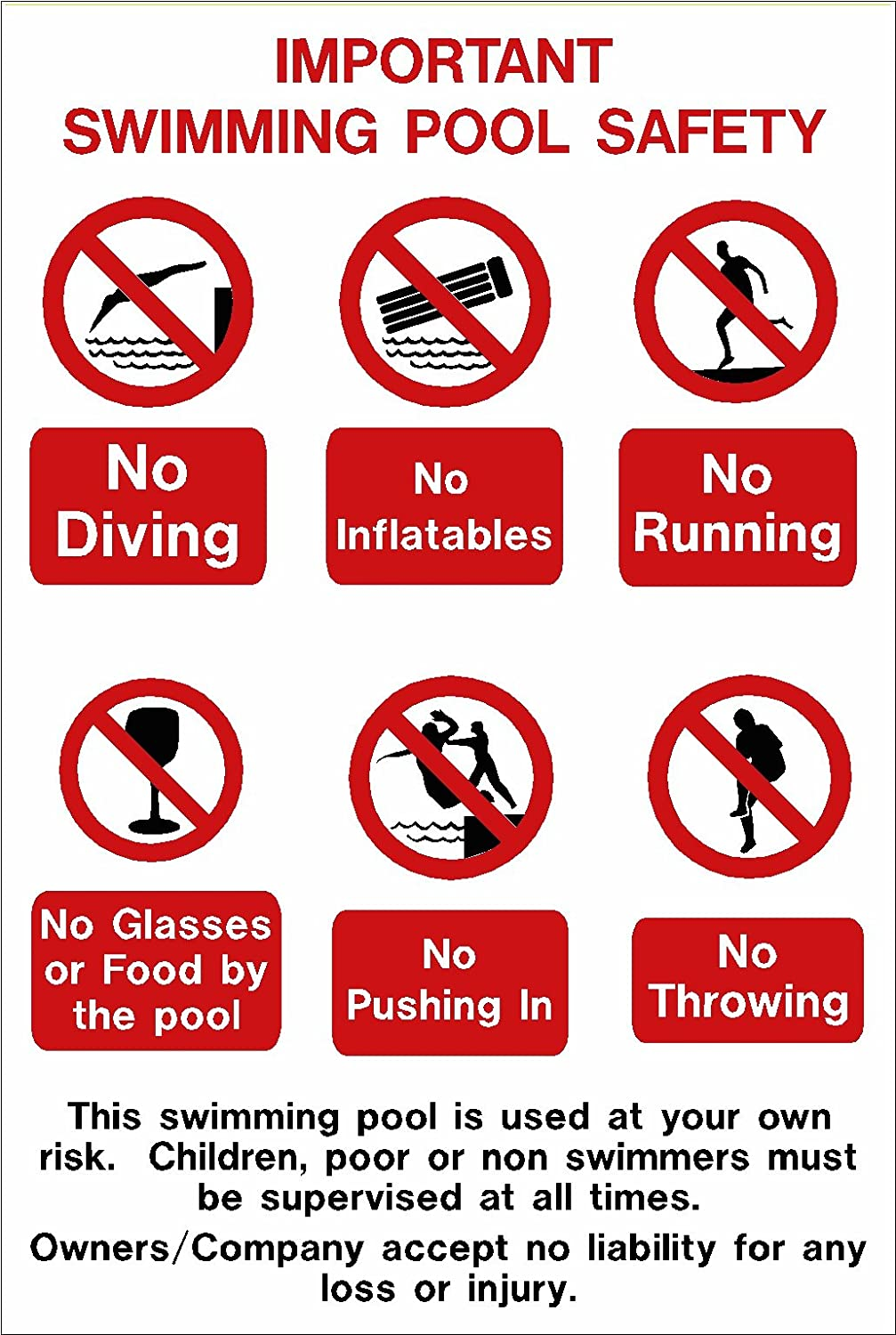 Awesome Swimming Pool Signs Ideas