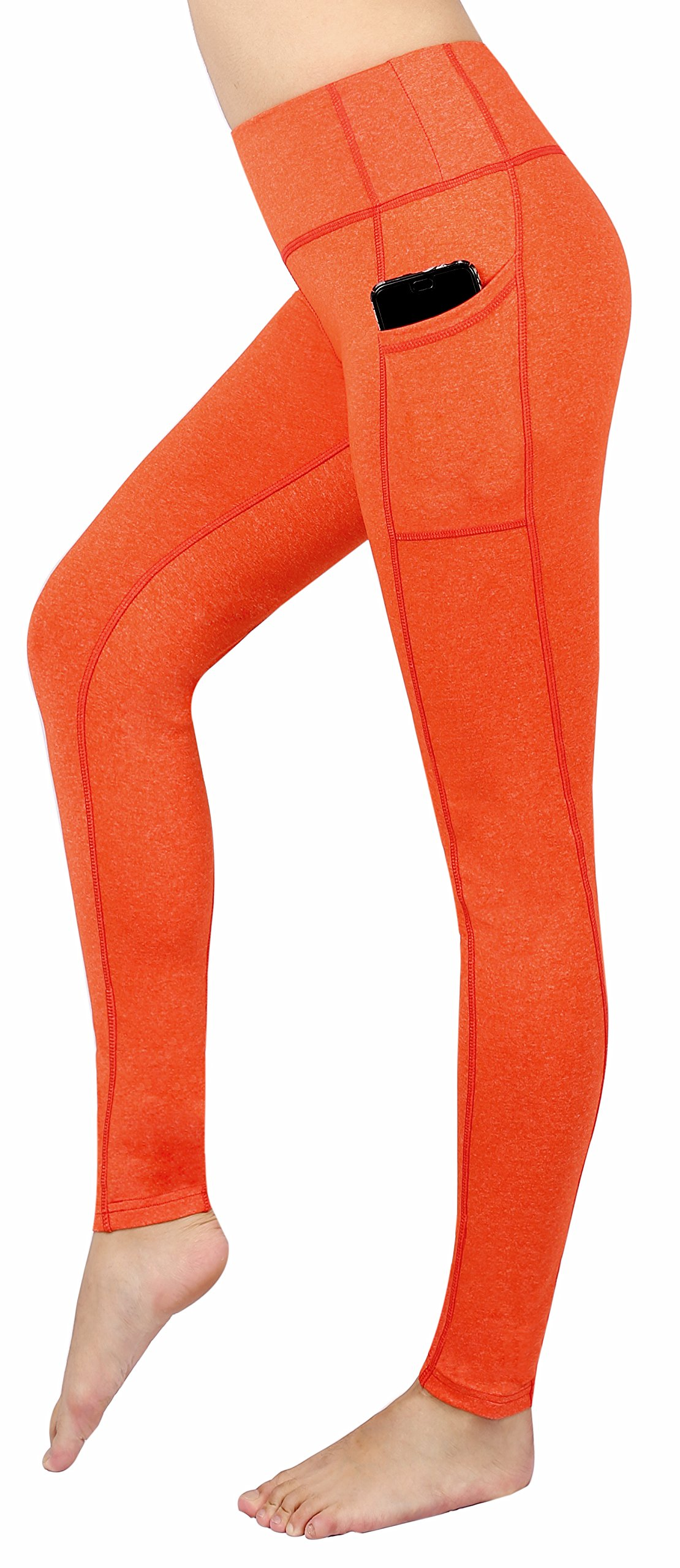 4a535db80b4 Neonysweets Women's Workout Leggings with Pocket Running Yoga Pants Orange S