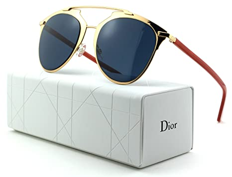 10d42e8dd44 Image Unavailable. Image not available for. Color  Dior Reflected S Rose  Gold Frame  Blue ...