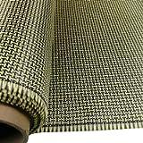 3K 200g Carbon Fiber Mix Yellow Aramid Fabric 2x2 Twill I Shape Weave 40' x 40'