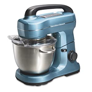 Hamilton Beach 7 Speed Stand Mixer, Blue (63393)