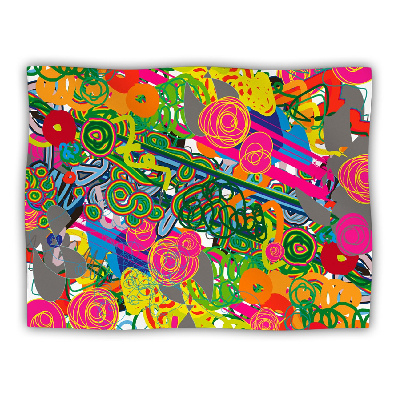 Kess InHouse Frederic Levy-Hadida  Psychedelic Garden  Dog Blanket, 60 by 50-Inch