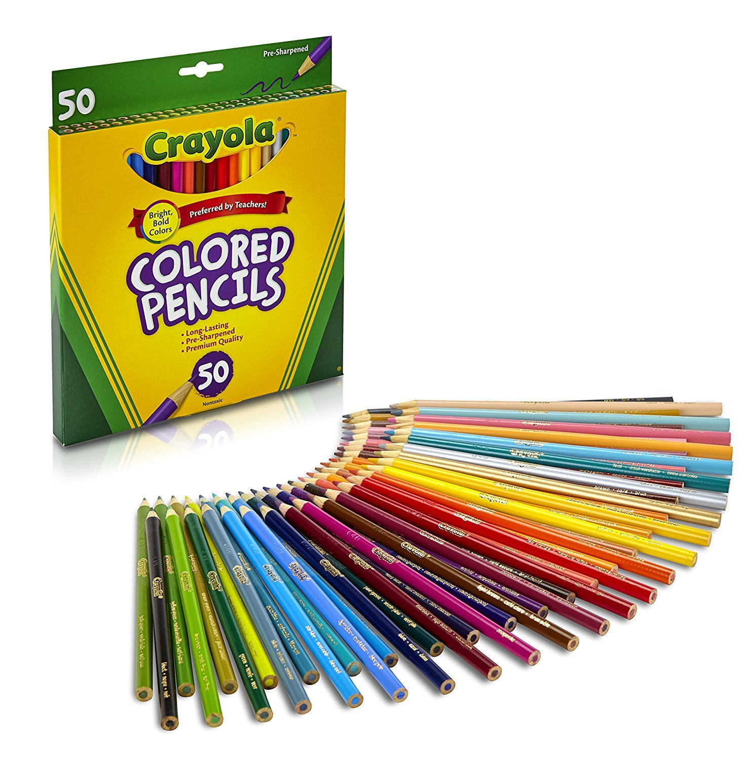 Amazon.com: Crayola Colored Pencils, 50 Count, Adult Coloring: Arts ...