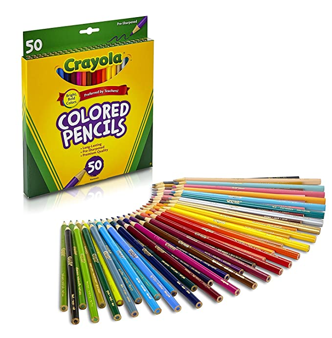 Amazoncom Crayola Colored Pencils 50 Count Adult Coloring Toys