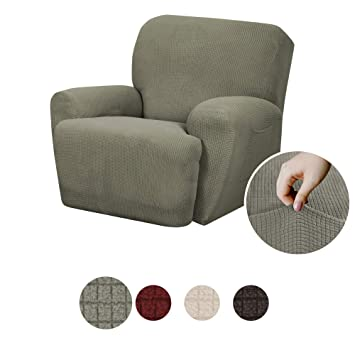 Tremendous Maytex Reeves Stretch 4 Piece Recliner Arm Chair Furniture Cover Slipcover With Side Pocket Dark Sage Green Gmtry Best Dining Table And Chair Ideas Images Gmtryco