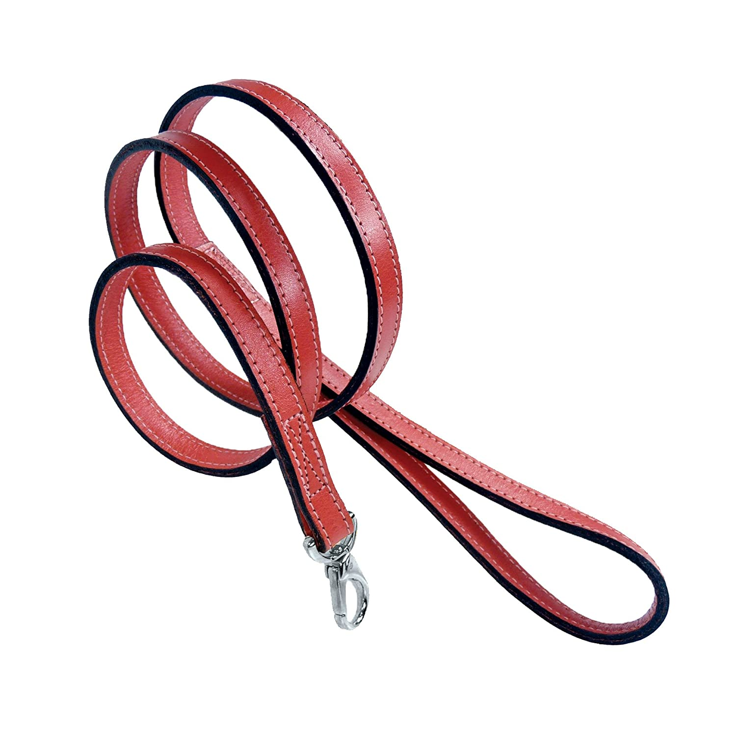 Hartman & pink 14369 Plain Nickel Plated Dog Lead, 1 2-Inch, Petal Pink