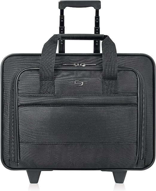 Solo New York Carnegie Rolling Laptop Bag, Black
