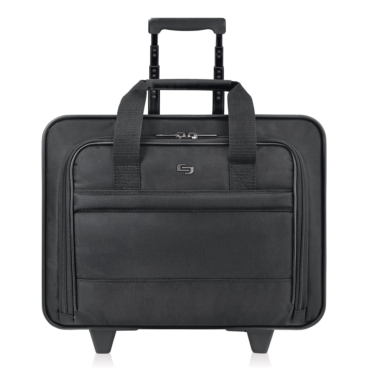 Solo New York Carnegie Rolling Laptop Bag.  Slim, Compact Design Rolling Case for Women and Men. Fits up to 15.6 inch laptop - Black by SOLO